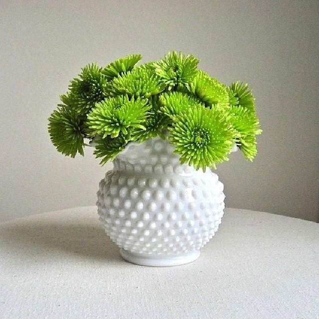 my-week-on-instagram-beautiful-flower-vase-with-green-flowers